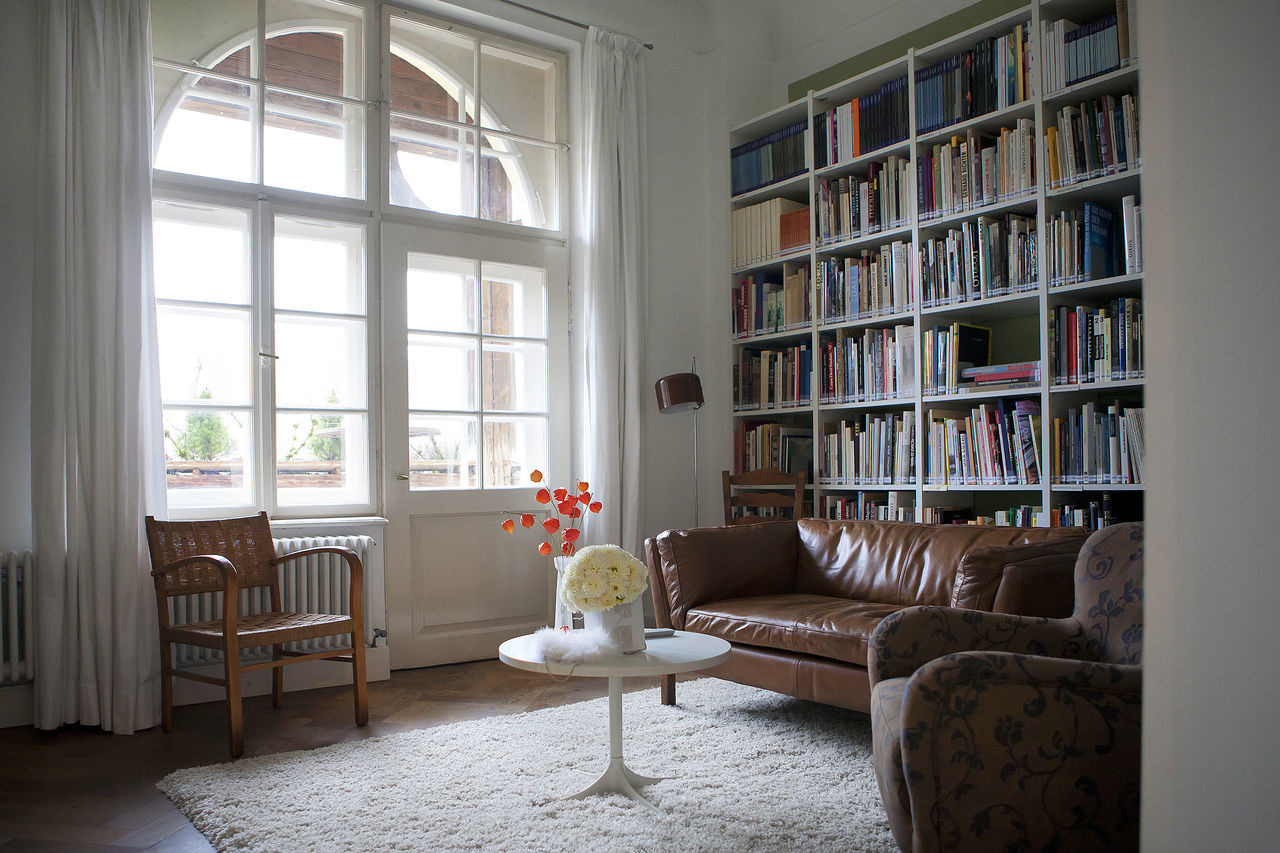 Architecture Bookshelf Chair Day Home Interior Indoors  Library Living Room No People Window