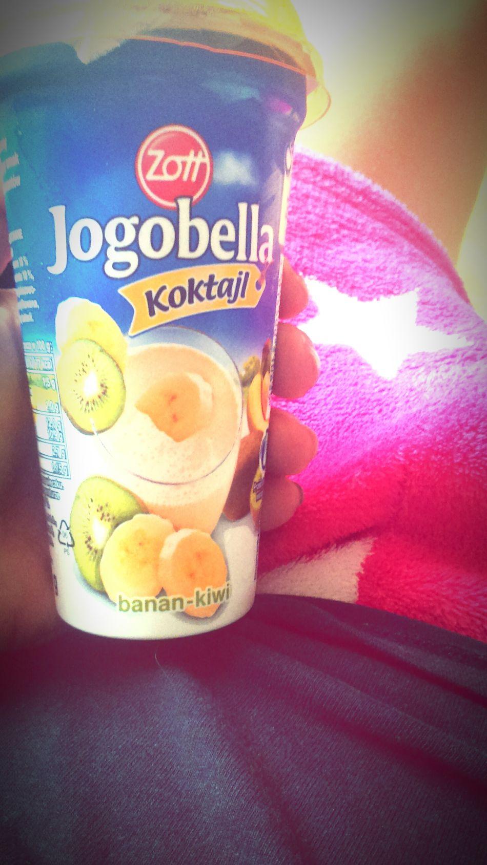 Yummy ✌ Zott Jogobella Banana Kiwi Yummy♡ Pychotka 😊😁😍 Koktajl Zdrowo !! To Podstawa :) Fit 😎