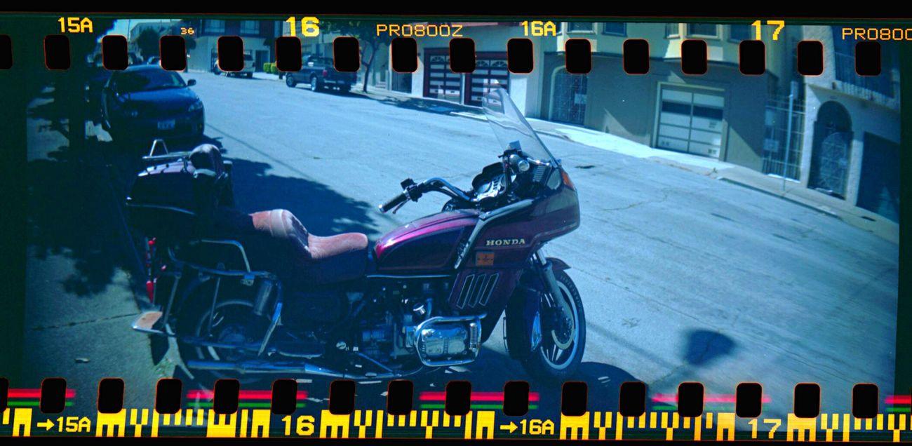 Sprocket Rocket Panorama Film Sprocket Holes Lomo800 Koduckgirl Street Motorcycles