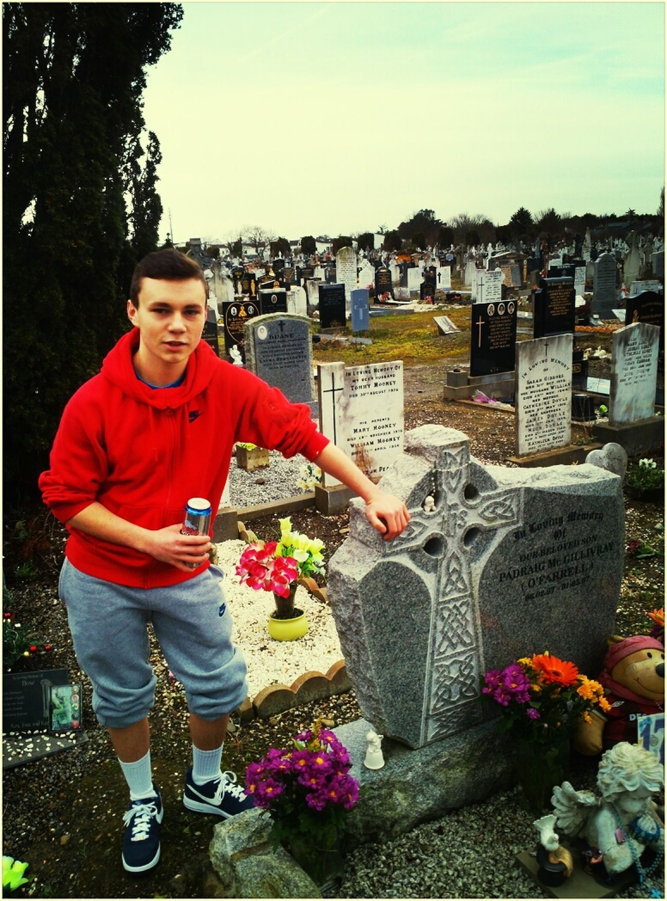 went to visit my sons grave as he woulda been 17 on the 6th of Feb 2014 and his good friend Mark was already there himself,Thank you Mark a true Friend