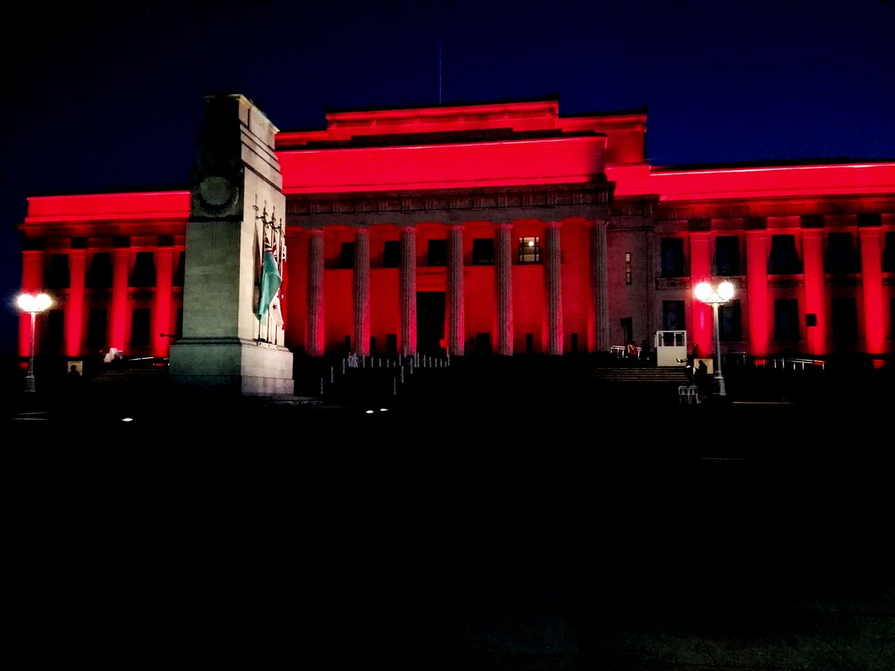 War memorial museum. Anzac Day Night Architecture Lestweforget Red Architecture History Illuminated Architectural Column Museum Built Structure Building Exterior No People