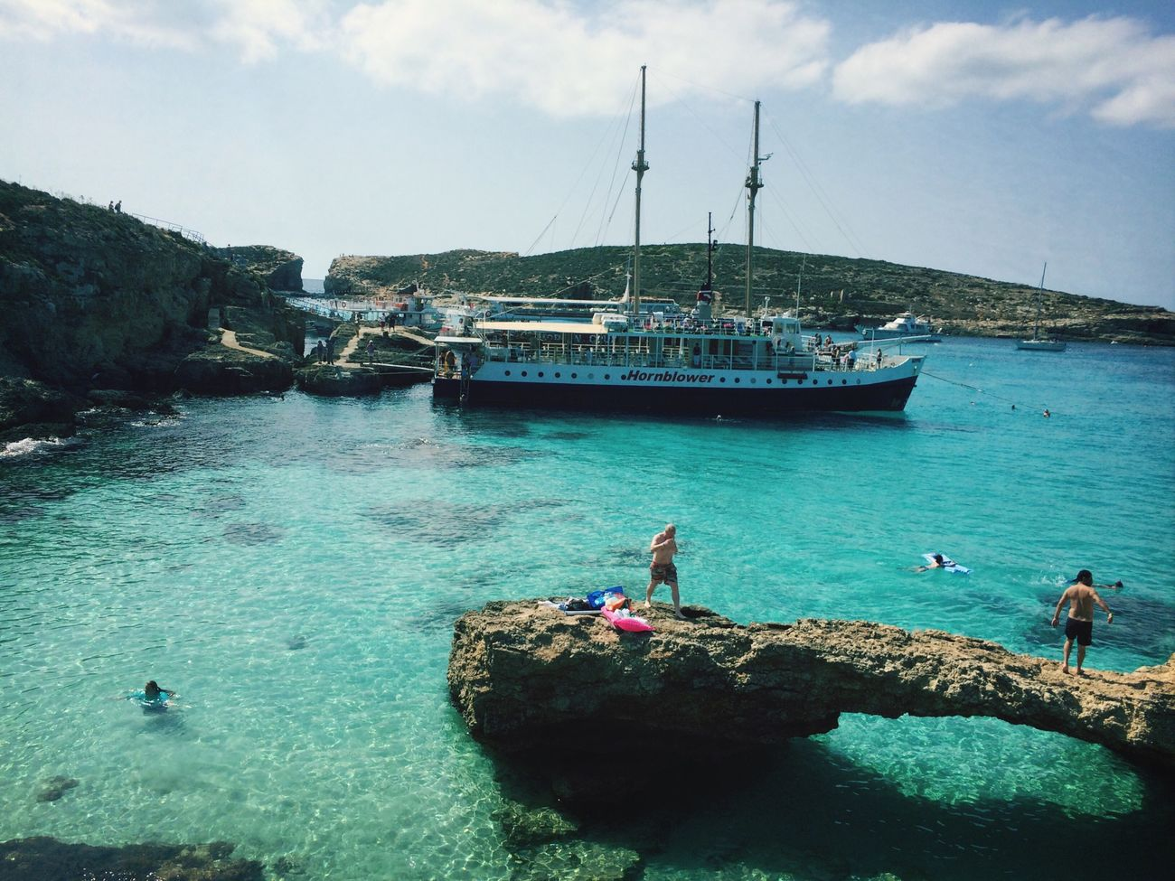 The Blue Lagoon, Comino Swimming Blue Sea