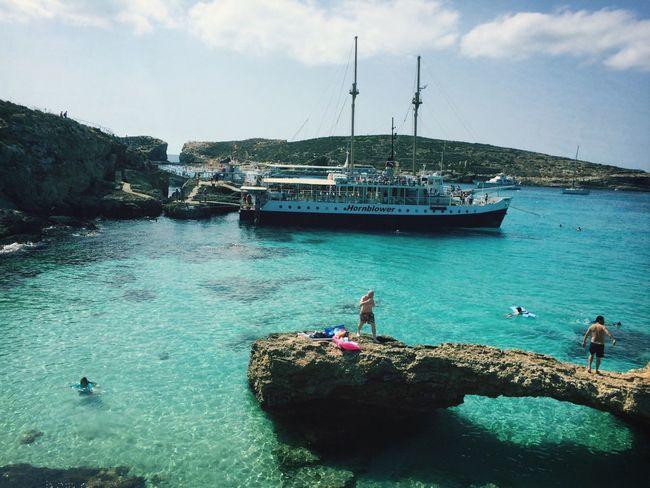 The Blue Lagoon, Comino Swimming Blue Sea