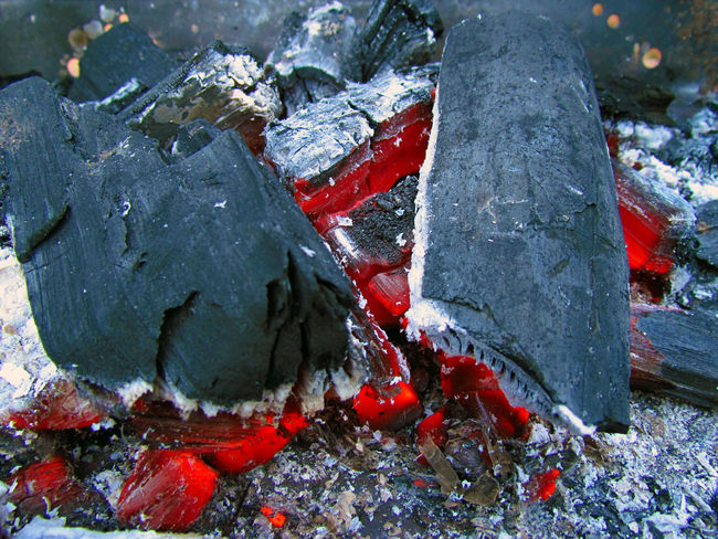 Barbecue Beauty In Nature Charcoal Coal Coal Fire Ember Fire Flame Flames & Fire Glow Heat - Temperature High Temperatures Hot Hot Red Nature No People Red Red Season  Temperature