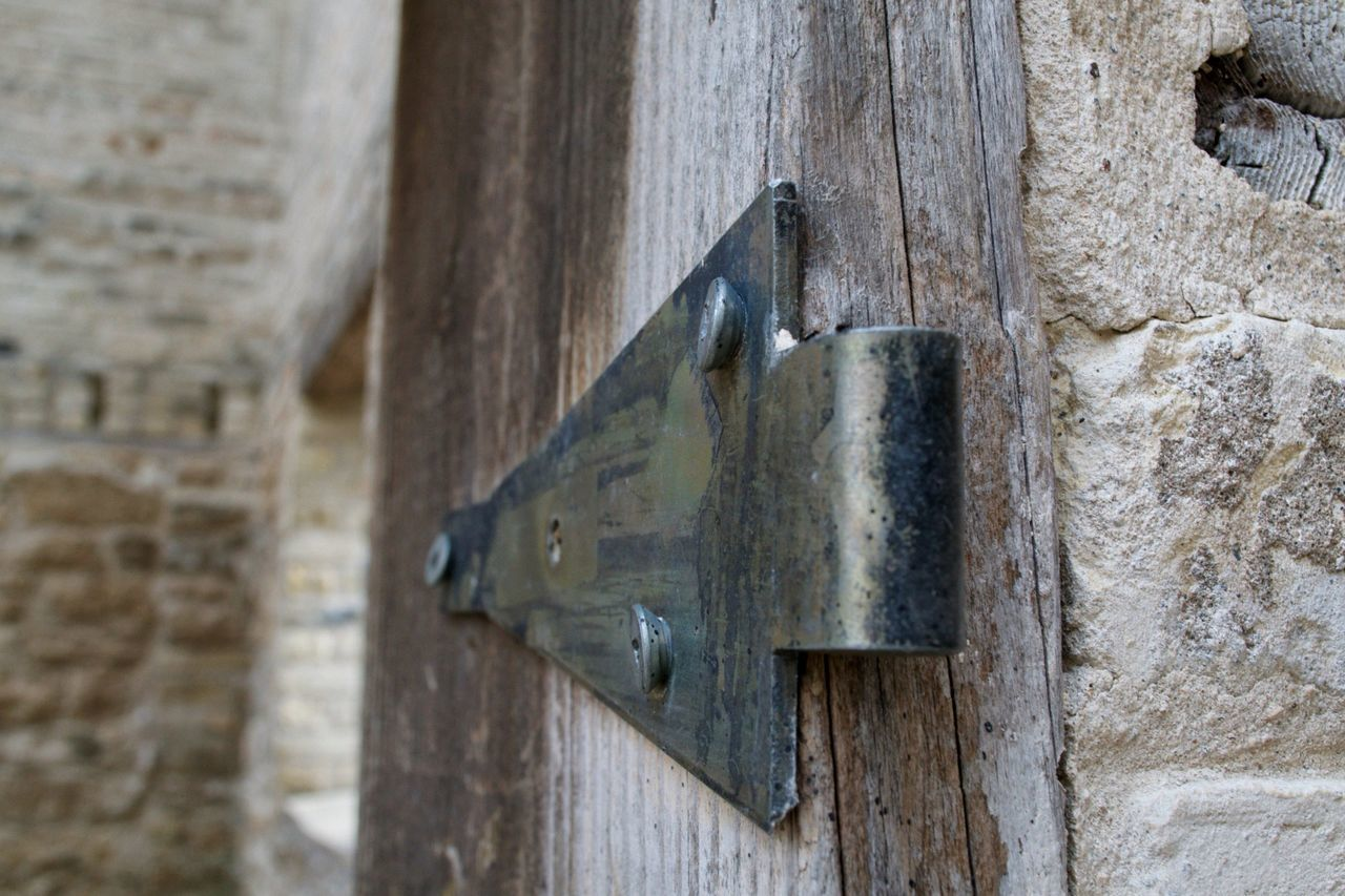 door, wood - material, close-up, no people, safety, day, old-fashioned, outdoors, lock, latch, architecture