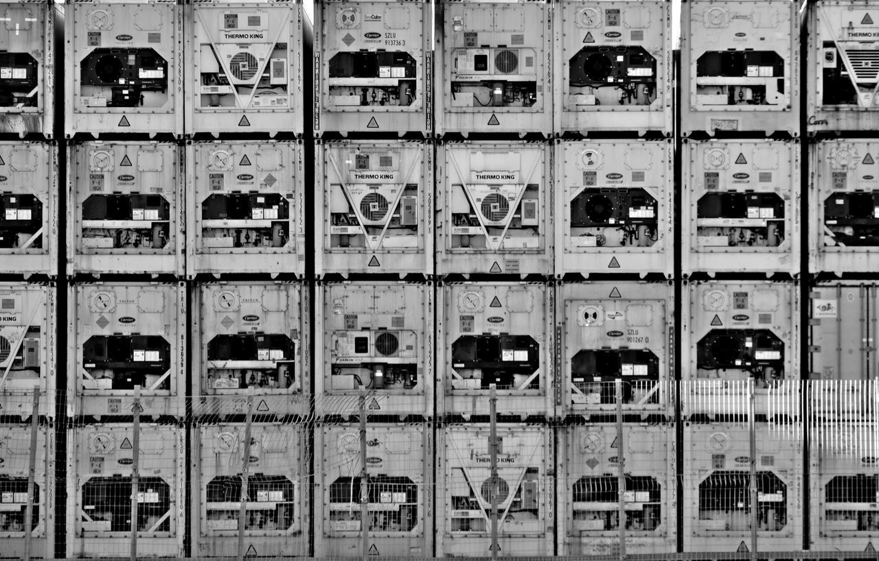 in a row, full frame, locker, backgrounds, safety, repetition, locker room, indoors, box - container, communication, no people, day, close-up