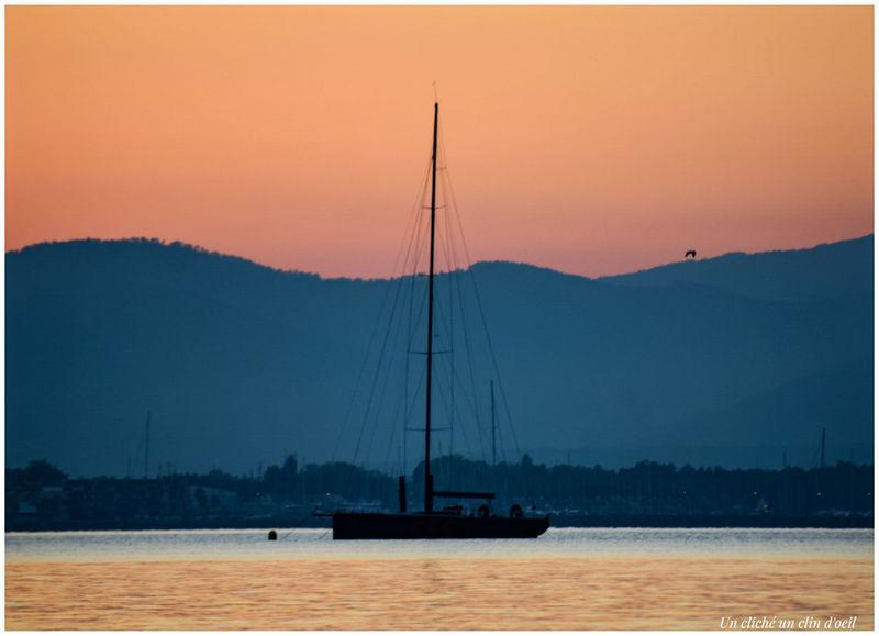 Sunset Water Nautical Vessel Landscape Sea Reflection No People Sailboat Awe Harbor Tranquility Travel Destinations Outdoors Ship Scenics Yacht Beach Nature Sky Mountain Saint Tropez EyeEmNewHere Unclicheunclindoeil