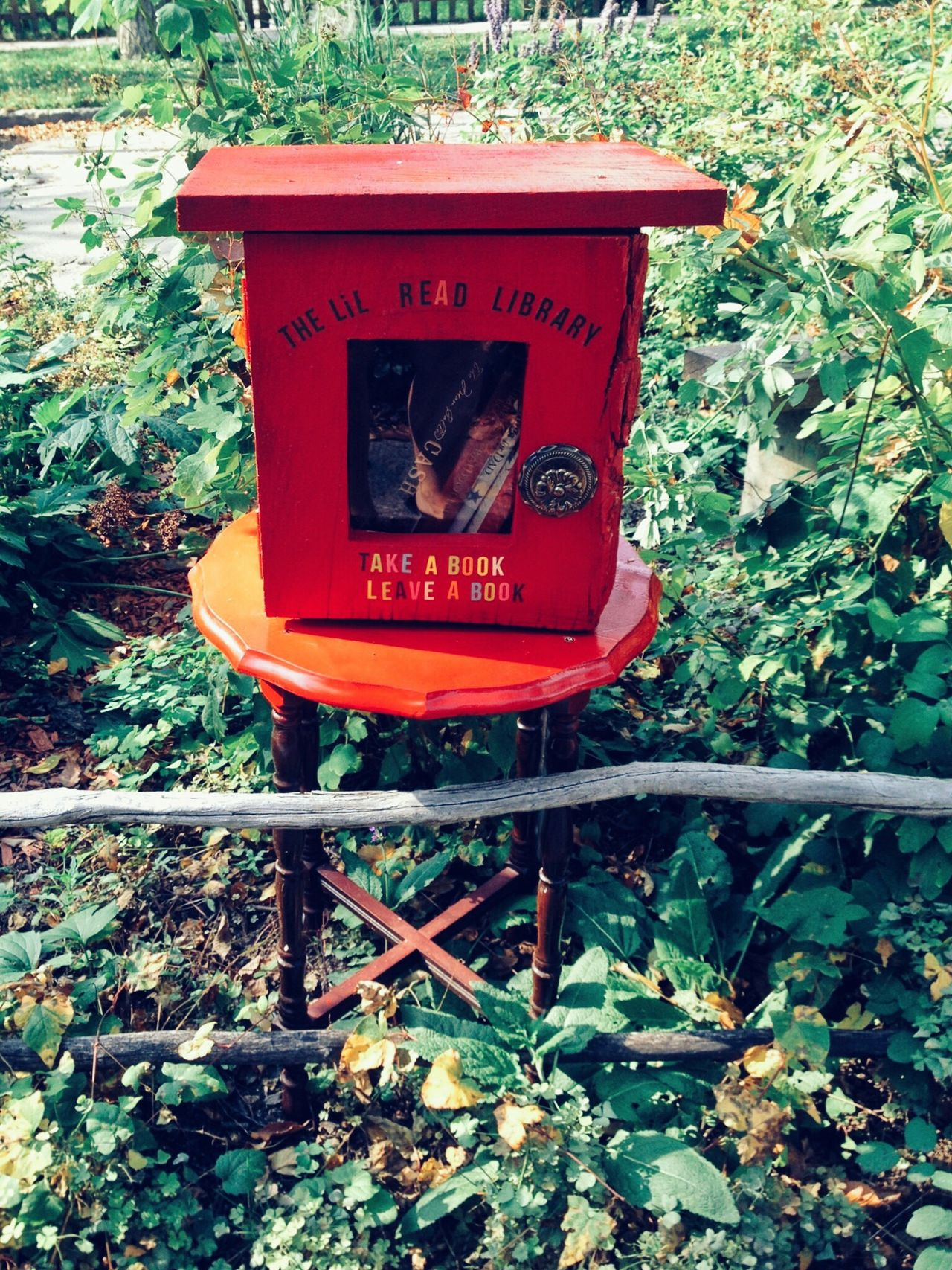 Sidewalk Library Borrow A Book Read Upcycled Neighbourhood Red Take A Book Return A Book Take A Book Leave A Book Check This Out Community Sharing  Book Share