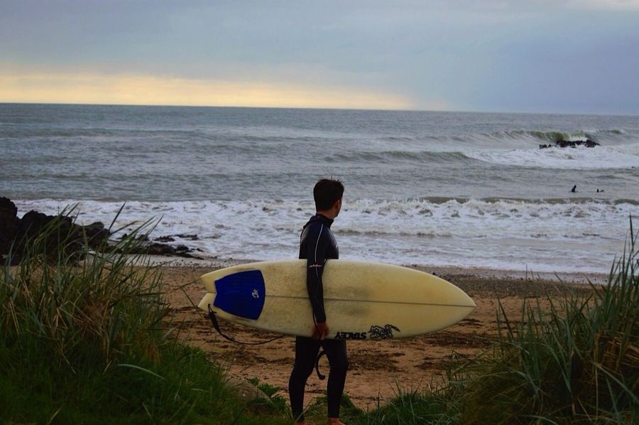Surfing in Wales with my Brother