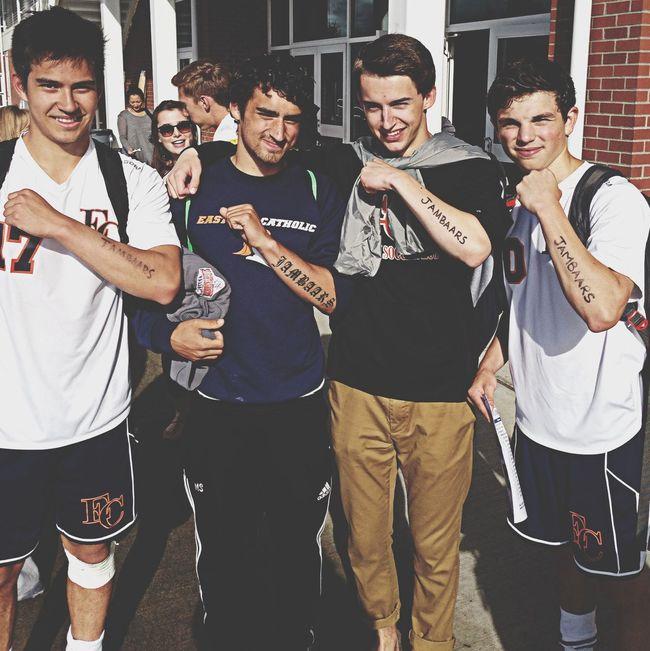Matching tats with Coach Max ? Soccer Senior Night