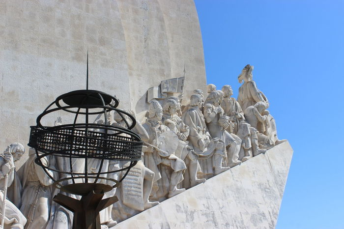 Architecture Blue Built Structure Global Photographer Works Exhibition Globe Lisbon Outdoors Padrão Dos Descobrimentos Sailors The Great Outdoors - 2015 EyeEm Awards The Purist (no Edit, No Filter) Travel Photography Vasco Da Gama