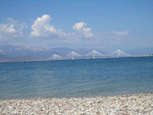 Beachphotography Blue Skies Blue Water Blue Sky Bridge Greece Patras,Greece Rio-antirio Bridge Summer