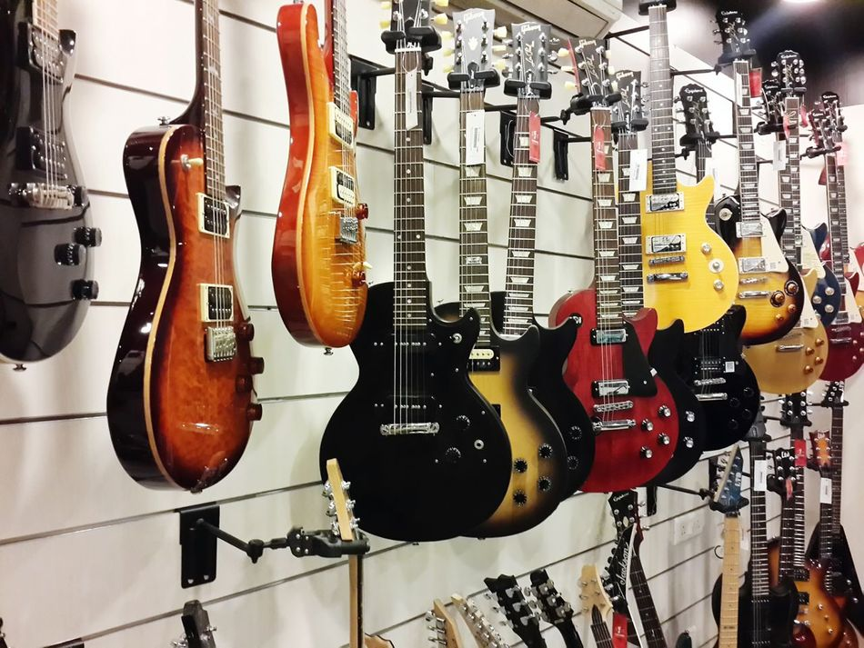 Beautiful stock photos of guitar, Arts Culture and Entertainment, Close-Up, Display, Group Of Objects