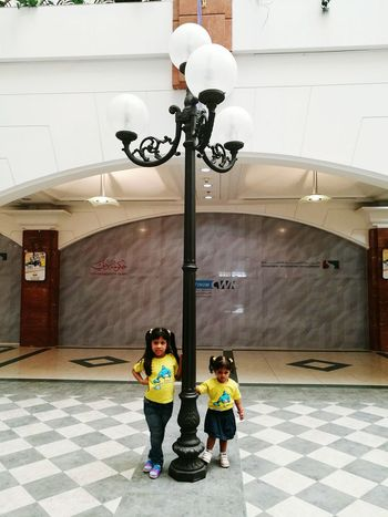 Hello World Taking Photos My Angels My Love❤ Lamp Post Matching Outfits