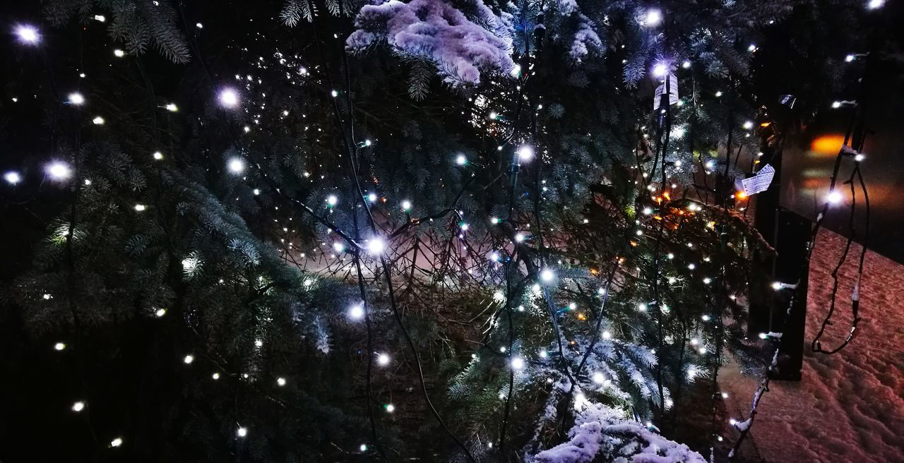 Christmas lights... Christmas Decoration Christmas Lights Christmas Time! Christmas Time Christmas Is Coming. ♥ Lights Snow ❄ Let It Snow ❄❄❄ Snowing ❄ Night Illuminated Celebration Nightlife No People Outdoors Multi Colored