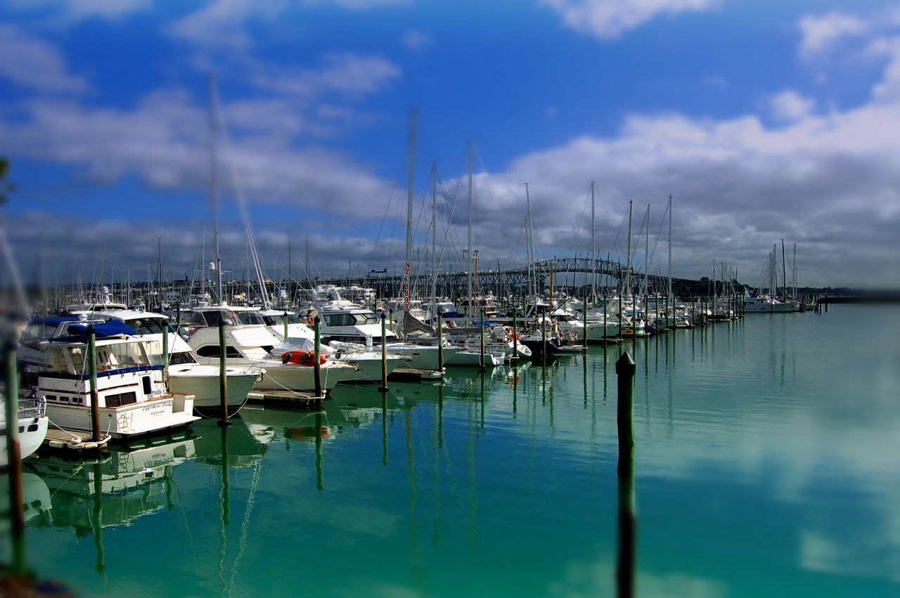 Architecture Cloud - Sky Day Environment Harbor Mast Moored Nature Nautical Vessel No People Outdoors Reflection Sailboat Sea Sky Tranquility Water Yacht Yachting