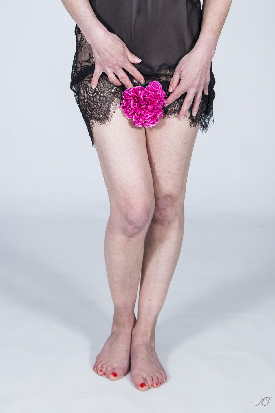 Close-up Flowers Human Body Part Lifestyles Low Section One Person Pink Color Real People Studio Shoot