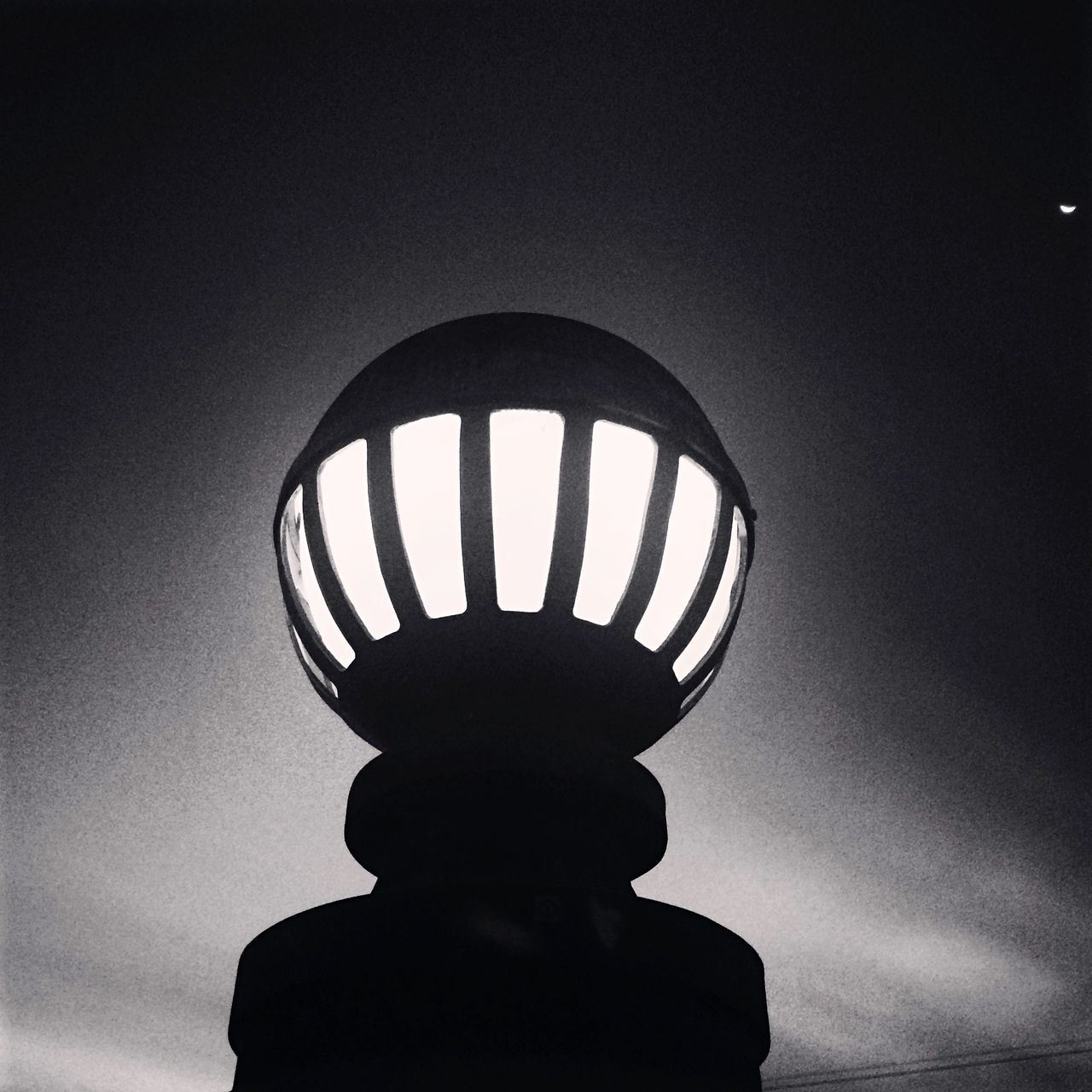 Low Angle View Of Sphere Street Light Against Sky