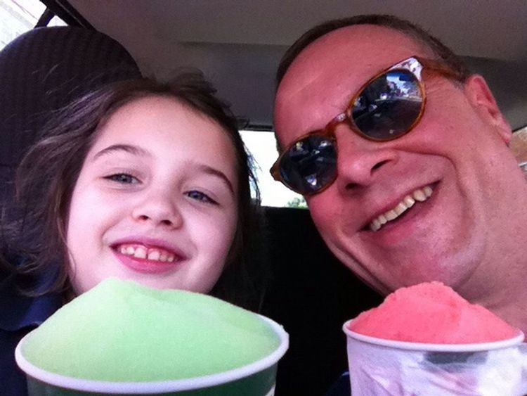 Sophia and I with our Rita's Italian Water Ices Nomnombomb Enjoying Life TheVille Streamzoofamily