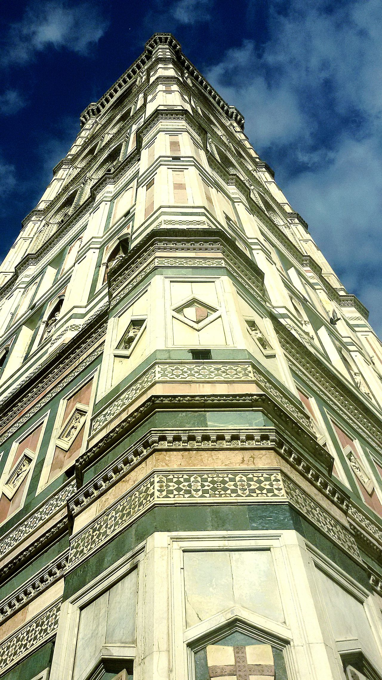 High! we go on top of the sky Architecture Built Structure Sky City Low Angle View Tower History Skyscraper Cloud - Sky Building Exterior Imnewhere Toscana Firenze No People Façade Outdoors Corner Gold Colored Building Feature Giotto Torre Di Giotto Torre Architettura Architetturaitaliana