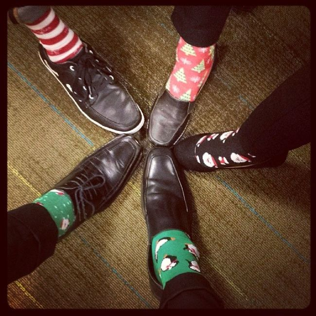 Crazy Christmas Sock Day Christmas Crazysocks  Workrelated GoodTimes instafunny