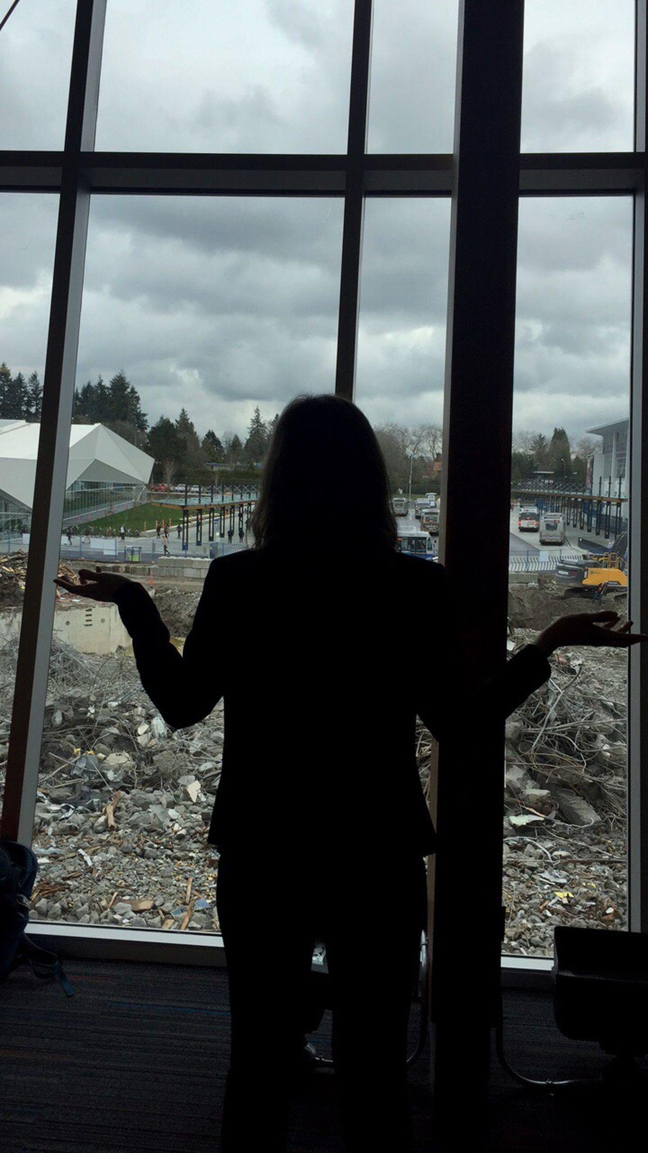 Demolition Silhouette Sky Window Universityofbritishcolumbia