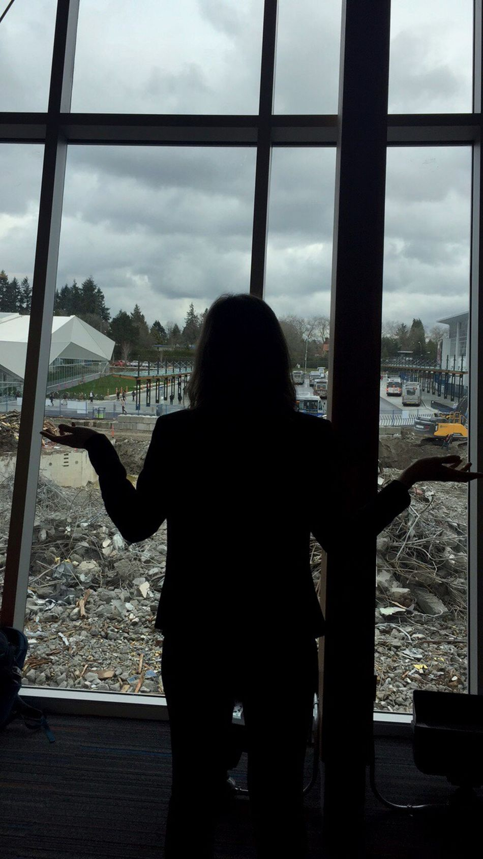 Demolition Silhouette Sky Window Universityofbritishcolumbia