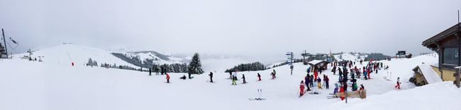 Day two ... Very foggy and rainy Saint Gervais Skiing Bettex Panorama