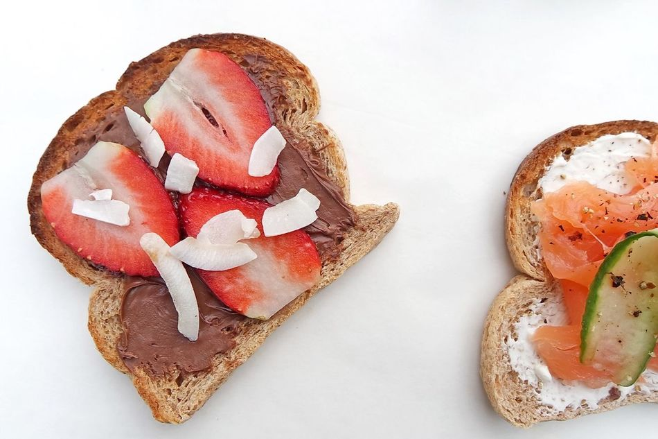 Sandwiches Food And Drink Food Freshness High Angle View Bread No People Ready-to-eat Close-up Healthy Eating White Background Breakfast Brunch Toasted Bread Sandwich Directly Above Plate Table Appetizer