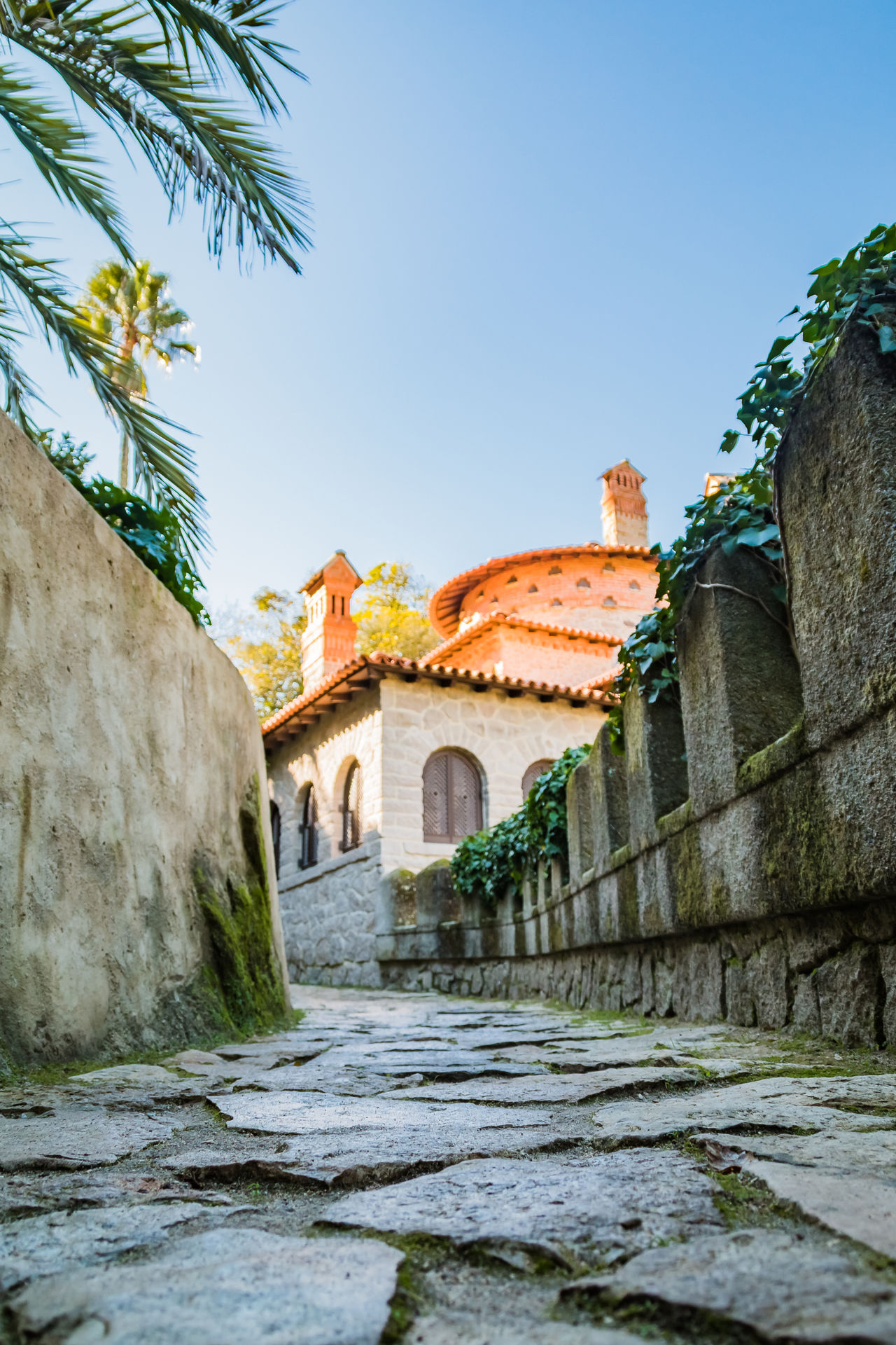 Ancient Ancient Architecture Architecture Beauty In Nature Colors Gardens Hiking Historical Building History Majestic Monuments Outdoors Palace Picturesque Ruins Sintra (Portugal) Sky Tourism Town Trails Travel Travel Destinations Tropical Climate