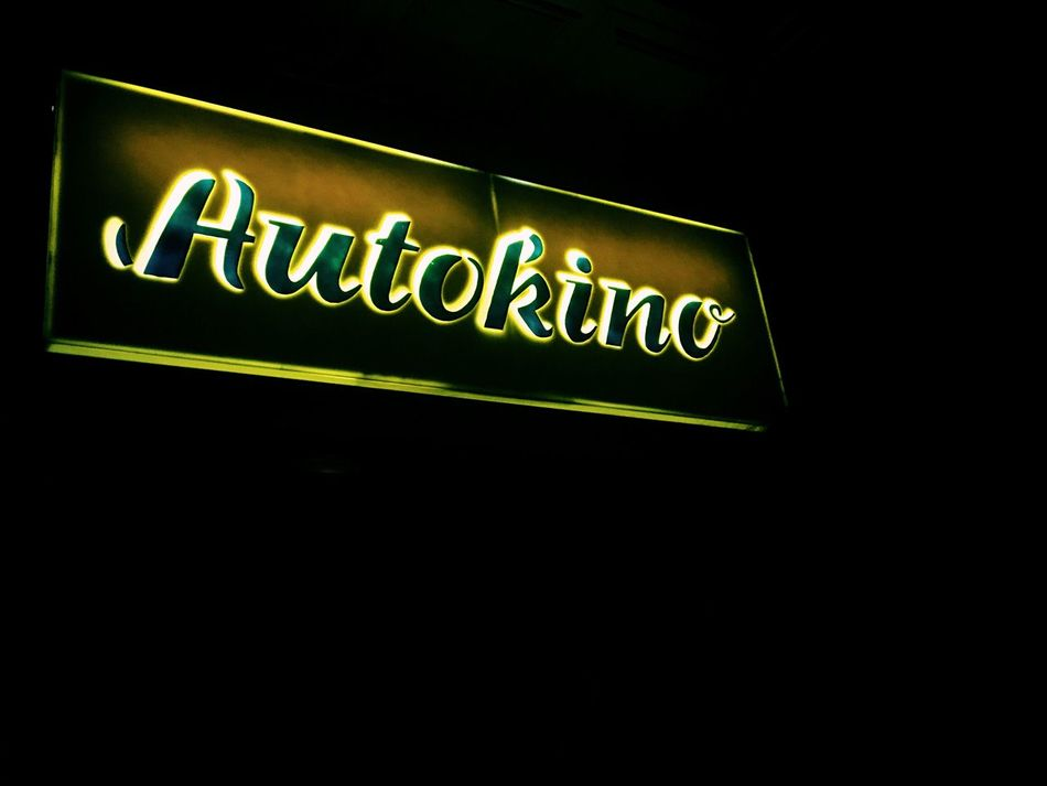 Autokino Neon Neon Sign Neon Lights