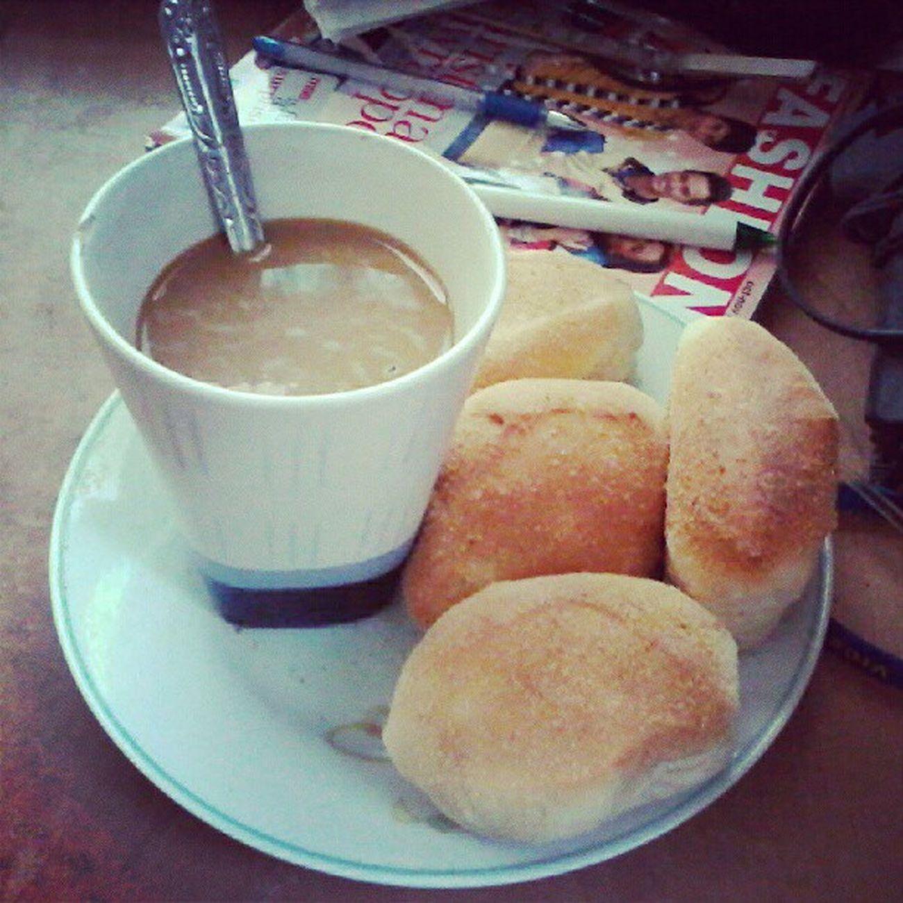 Coffee and pandesal sa umaga :))) let's eat! ;) Morning Bfast Pinoyfood