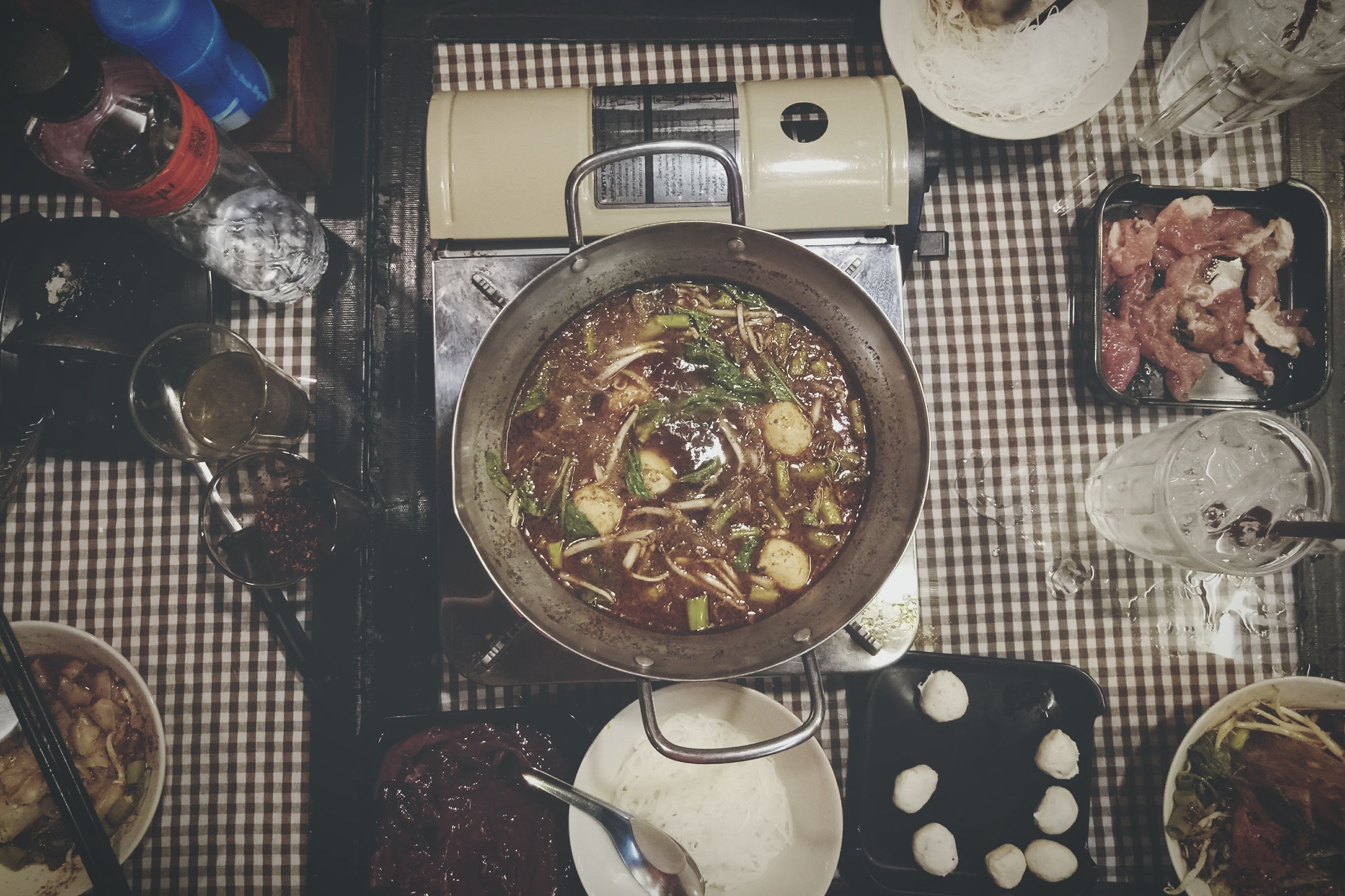 food and drink, food, indoors, bowl, high angle view, healthy eating, table, seafood, freshness, no people, plate, meat, ready-to-eat, day