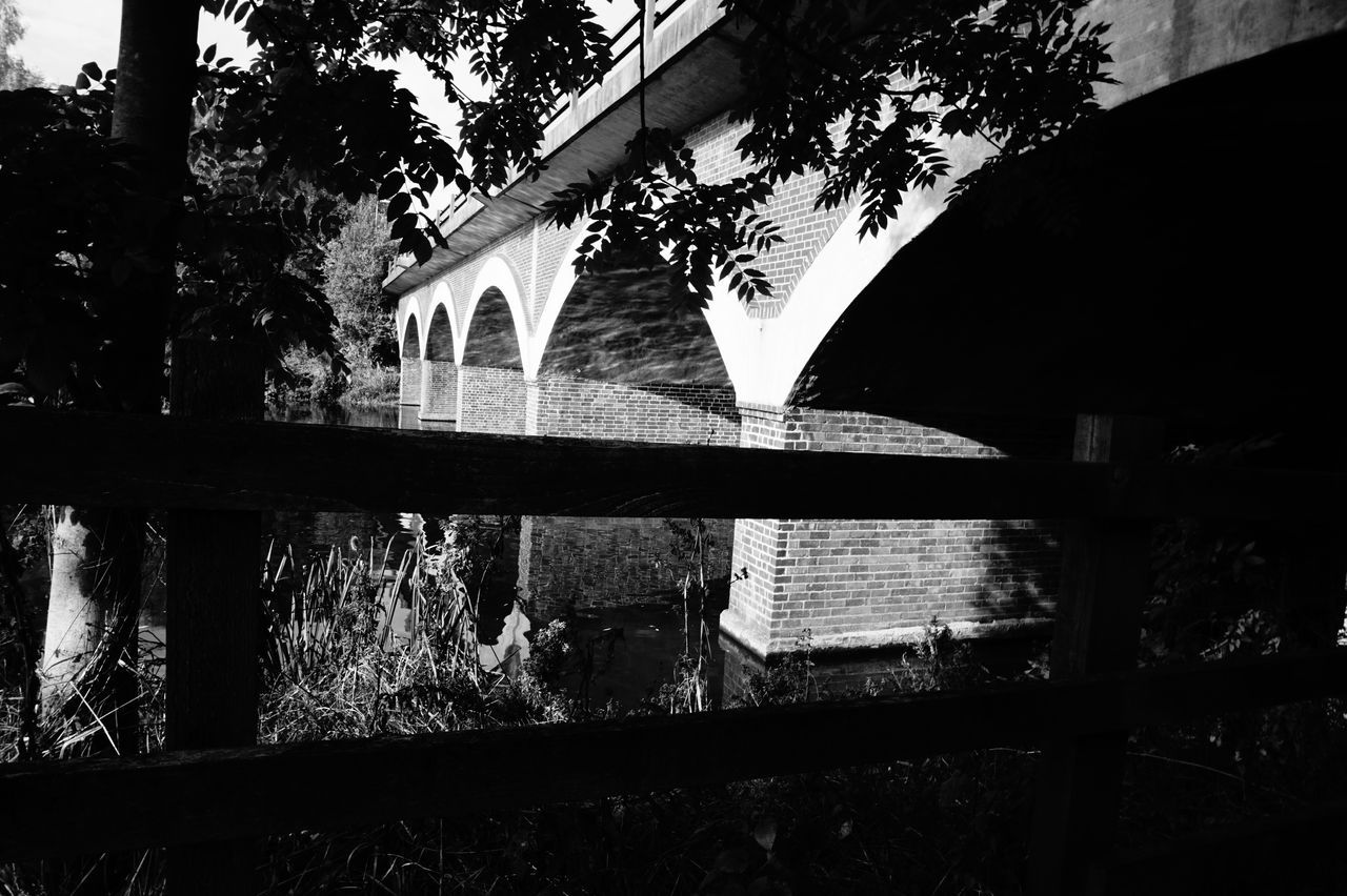 7198 Arch Arches Architecture Black & White Black And White Black And White Photography Blackandwhite Blackandwhite Photography Brick Bridge Brick Work Bridge - Man Made Structure Bridge Arch Bridge Architecture Bridge View Built Structure Day History Low Angle View No People Outdoors Sky Tree Water Reflections Wooden Fence