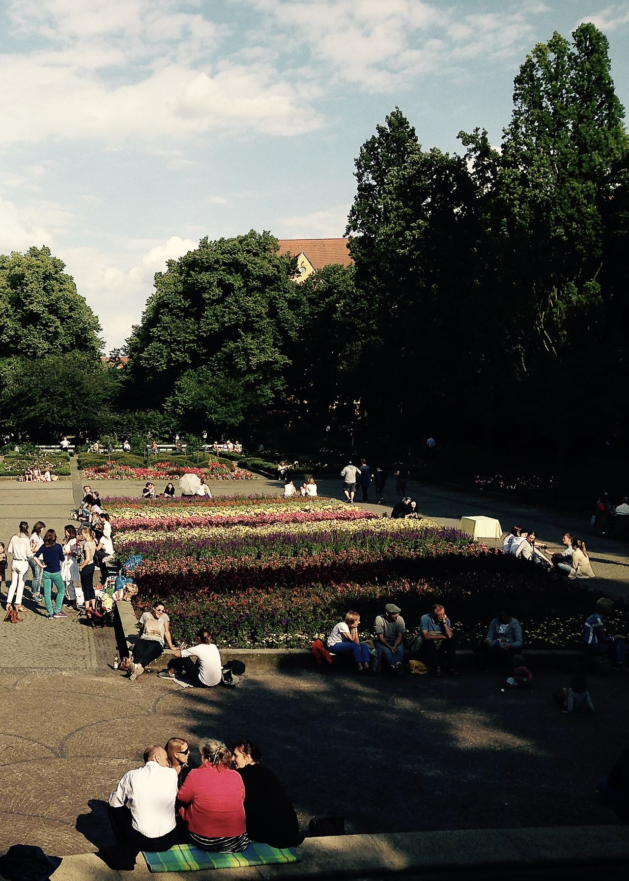 summer in the city, urban life berlin Berlin Colors Impression Light Relaxing Roof Rüdesheimer Platz Audience Berliner Ansichten Crowd Enjoyment Flowers Large Group Of People Nature Outdoors Park People Shadow Sky Streetphotography Togetherness Tree Urban Landscape