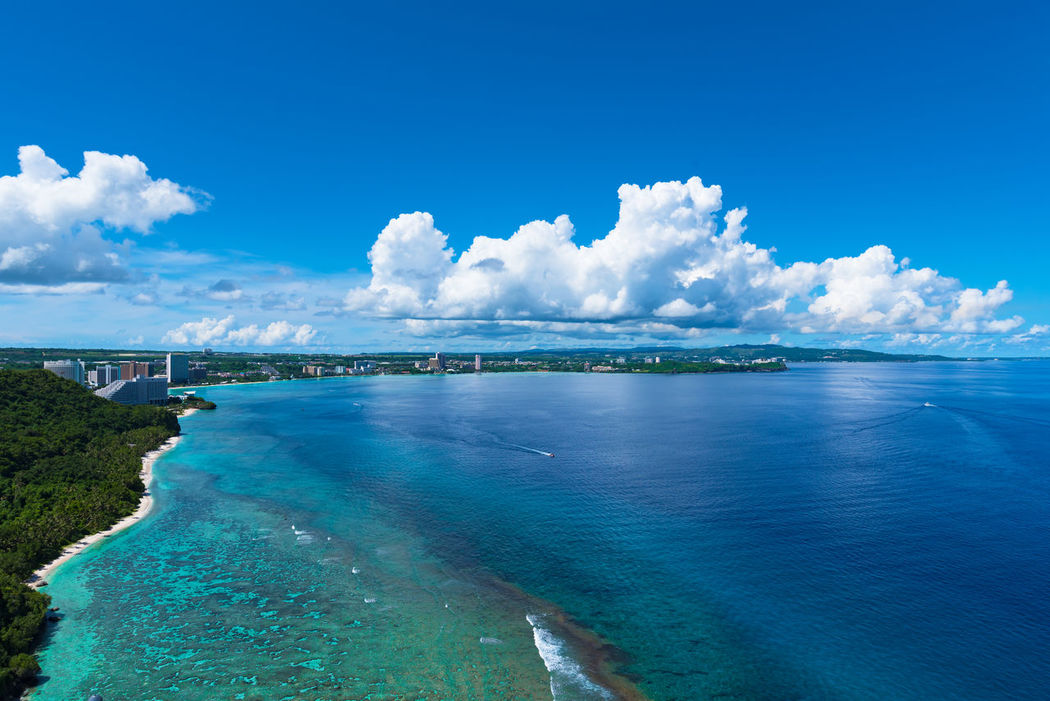 Superb View Vacations Amazing Beach Beauty In Nature Blue Cloud - Sky Coral Day Emeraldgreen Guam Horizon Over Water Landscapes Nature Outdoors Pacific Ocean Photography Scenics Sea Sky Tranquil Scene Tranquility Travel Destinations Twoloverspoint Water