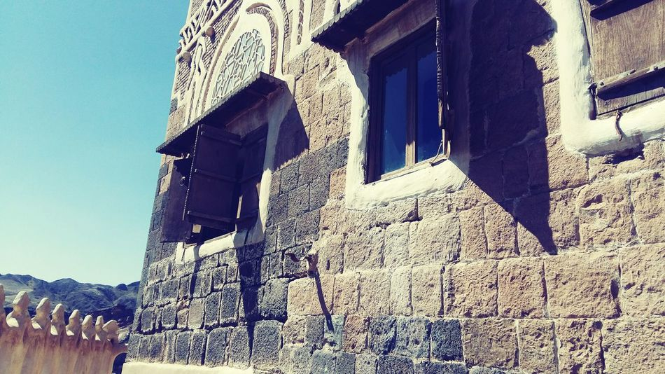 Yemen Sanaa Ancient Civilization No People Day Architecture Built Structure Ancient Low Angle View History Building Exterior Windows, Wall Sunlight Old Architecture