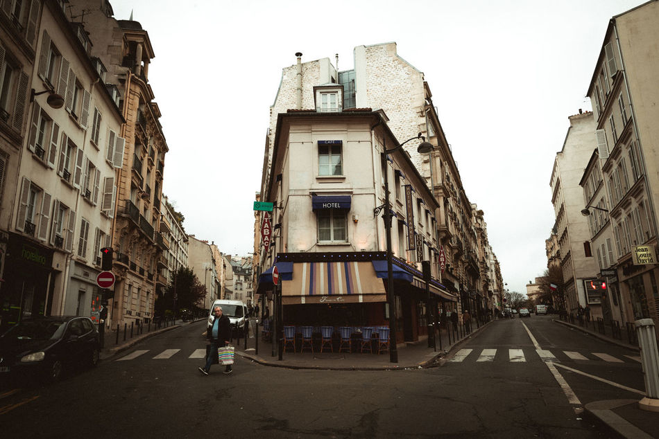 passy. Architecture Building Exterior Built Structure City City Life City Street Day Fragility Hotel No People Outdoors Paris Passy Road Sky Street Streetphotography