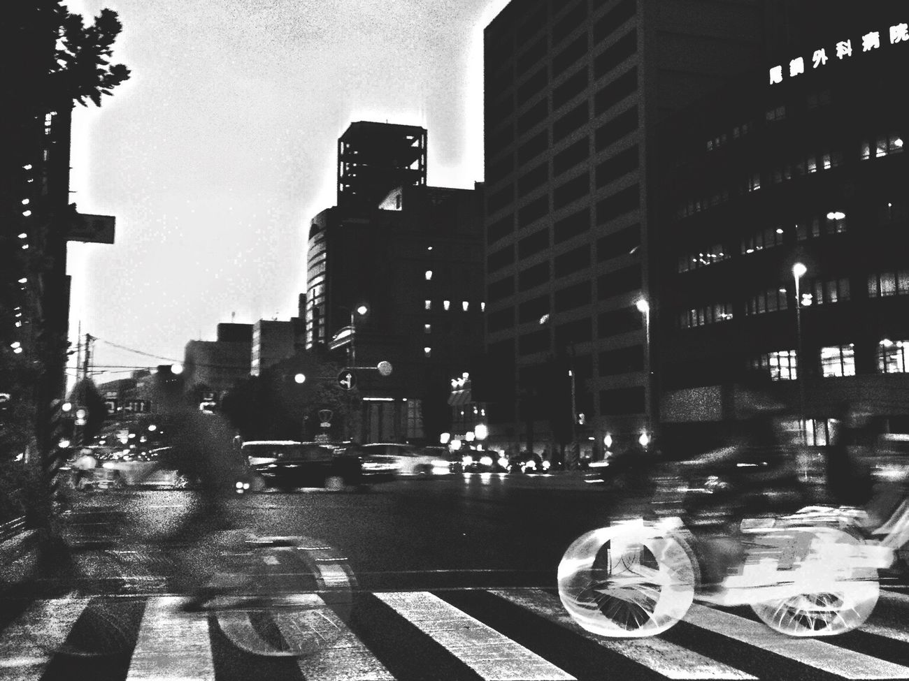 Street Streetphotography Street Photography Speed Blackandwhitephotography Black And White Night Lights Crosswalk