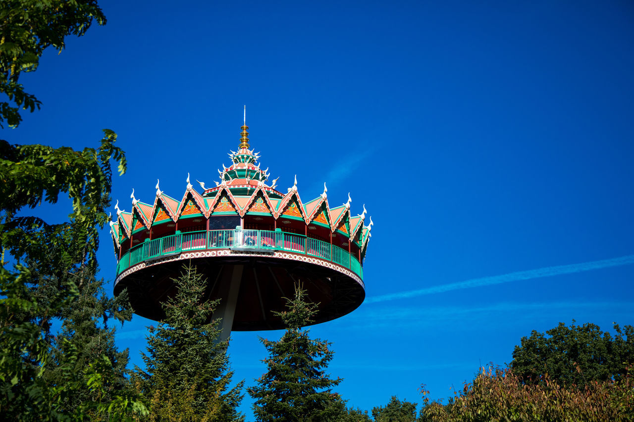 Blue Blue Sky Efteling Efteling ,the Netherlands Pagode The Netherlands Theme Park Trees Trees And Sky