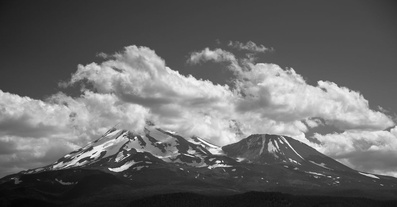 My Favorite Place Black And White Mountains Mount Shasta, California Clouds And Sky Cloudy Sky Eyeemphoto