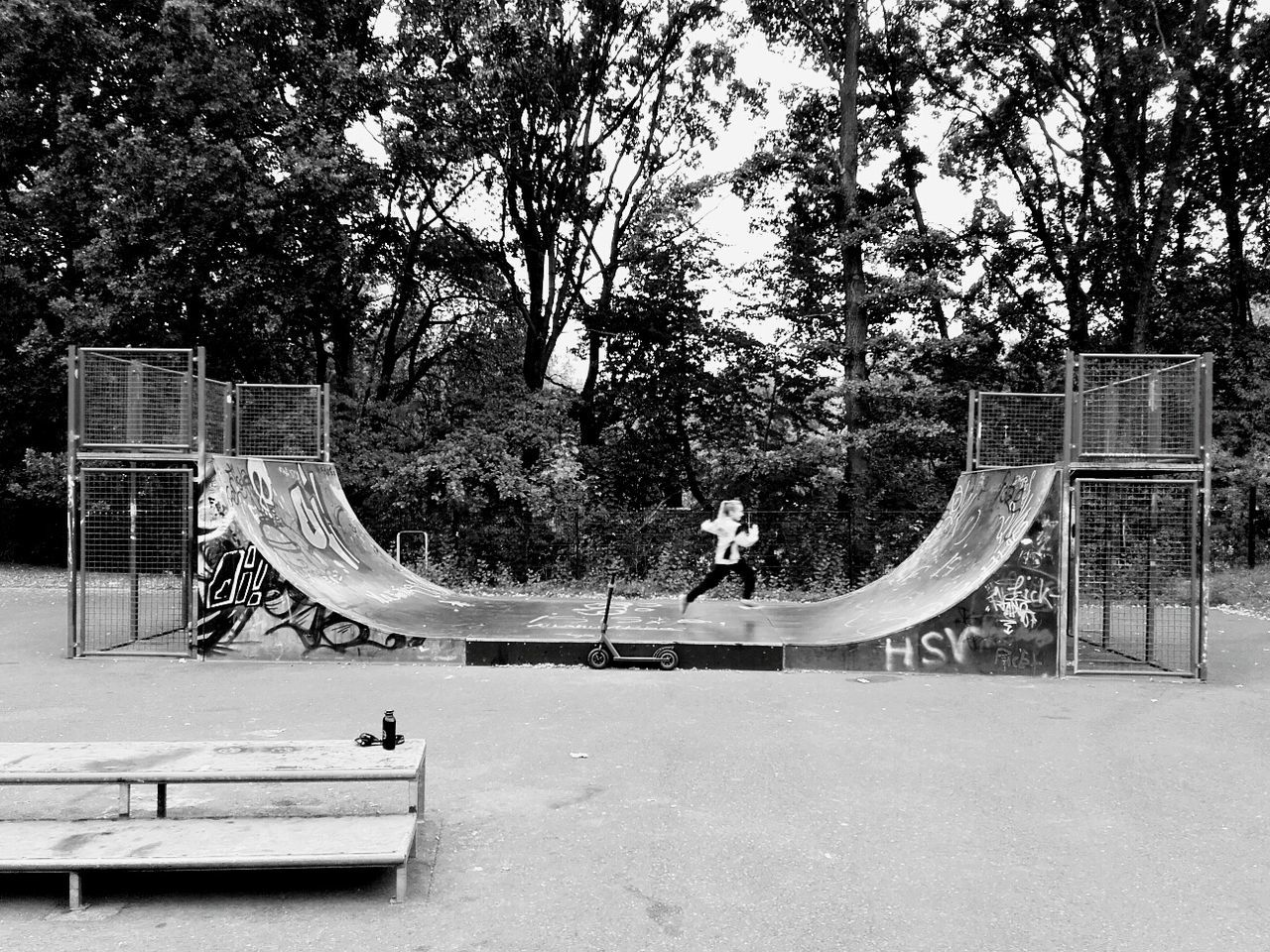 tree, playground, day, park - man made space, outdoors, leisure activity, real people, two people, skateboard park, nature, men, sky, people