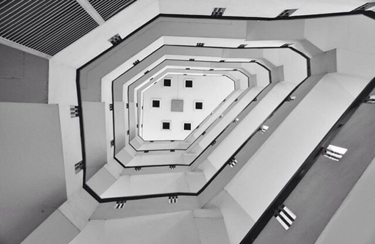 Architecture Built Structure No People Blackandwhite Canonphotography Canon Camera Pattern Steps Thailand Footsteps Photo Architecture Bangkok Staircase Staircases School