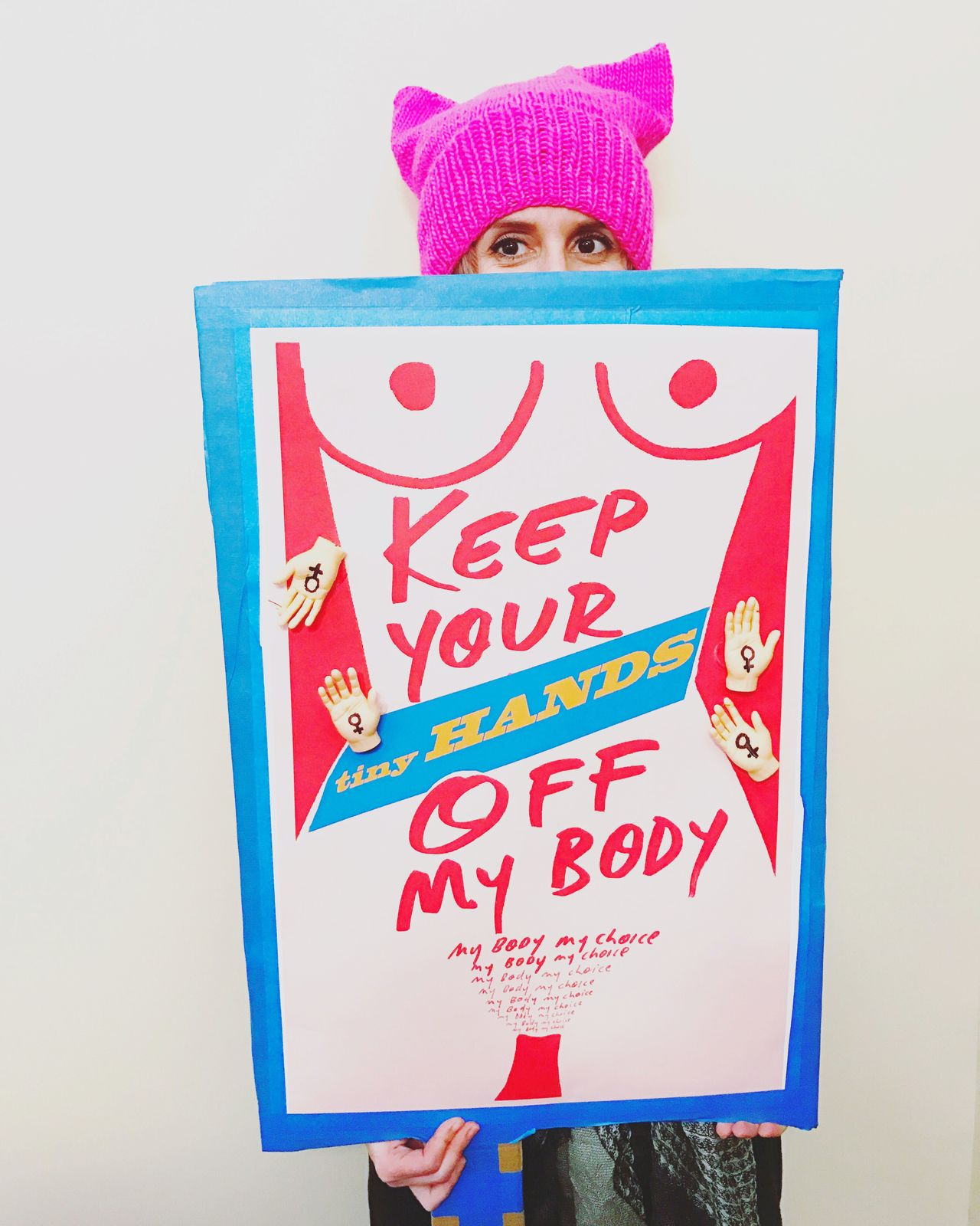 Donald Trump Resistance  Feminism Women's March On Washington Tiny Hands Feminist Protest Protest Posters Pussyhat My Body My Choice