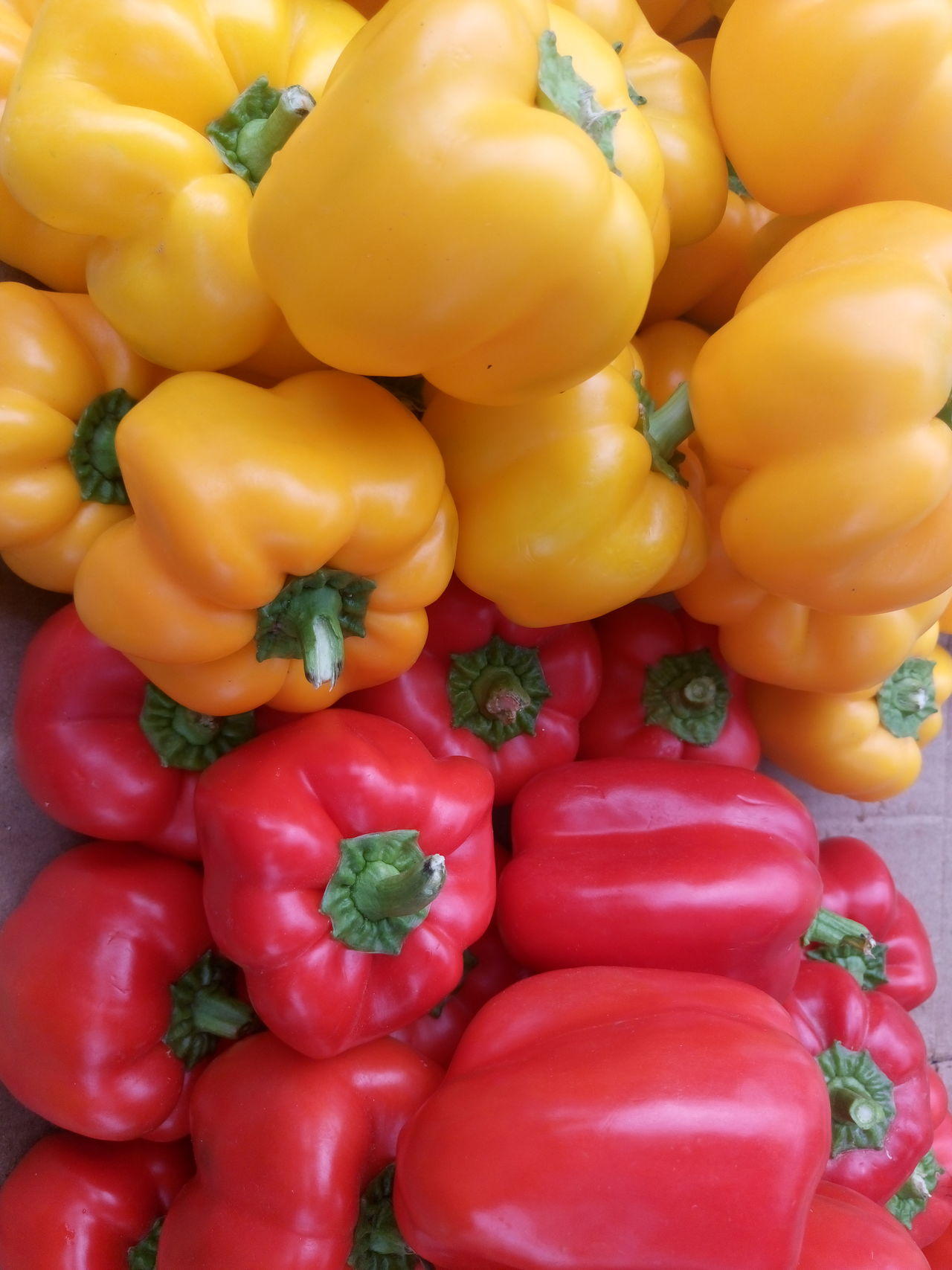 Backgrounds Bell Pepper Close-up Day Food Food And Drink For Sale Freshness Full Frame Healthy Eating Market No People Outdoors Red Red Red Bell Pepper Vegetable Yellow