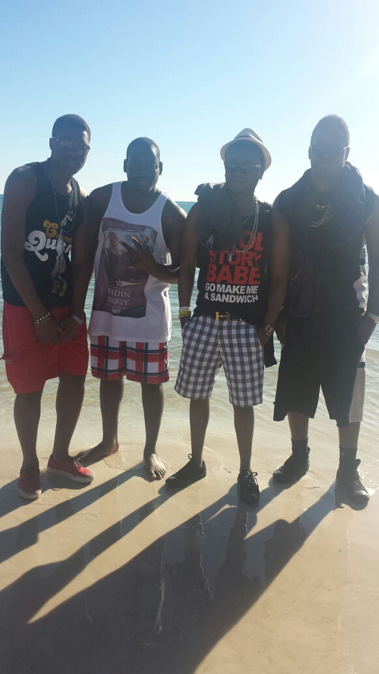 Beach Terre Haute homies Enjoying Life