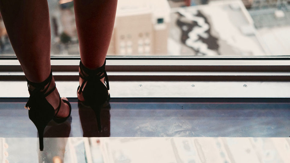 High heels at Calgary Tower Fashion HighHeels Tourist Attraction  Attitude Calgary Calgary Tower Close-up Day Highheelshoes Human Leg Indoors  Legs Lifestyles Low Section One Person Real People Tourism Viewpoint Window Women