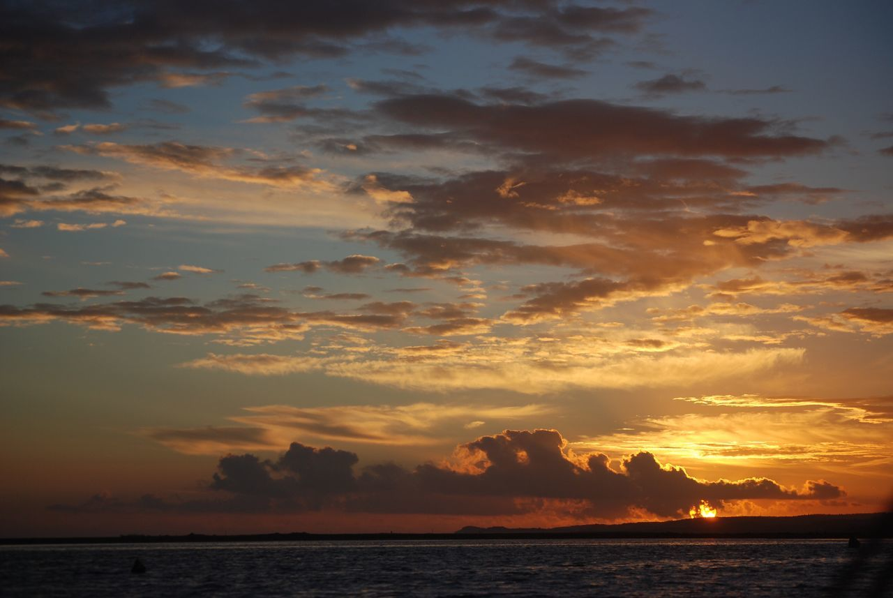 Sea Sunset Sky Scenics Water Cloud - Sky Beauty In Nature Nature Tranquil Scene Waterfront No People Outdoors Day
