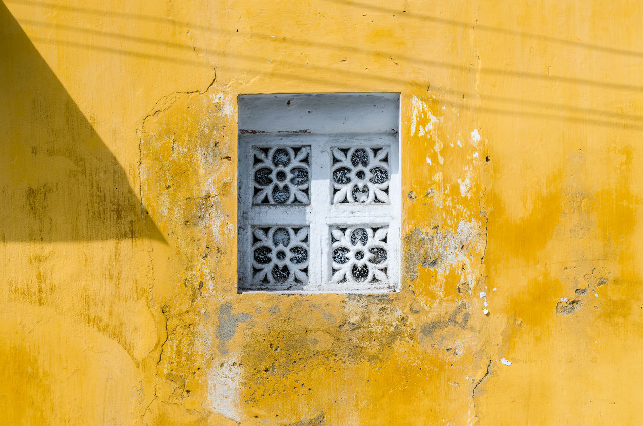 White window and yellow wall Ancient Architecture Background Building Exterior City Close-up Heritage Hoi An Hoi An, Vietnam Indochina No People Old Outdoors Town Traditional Unesco UNESCO World Heritage Site Vietnam Vietnamese Vintage Wall Window Windows Yellow Yellow Color First Eyeem Photo