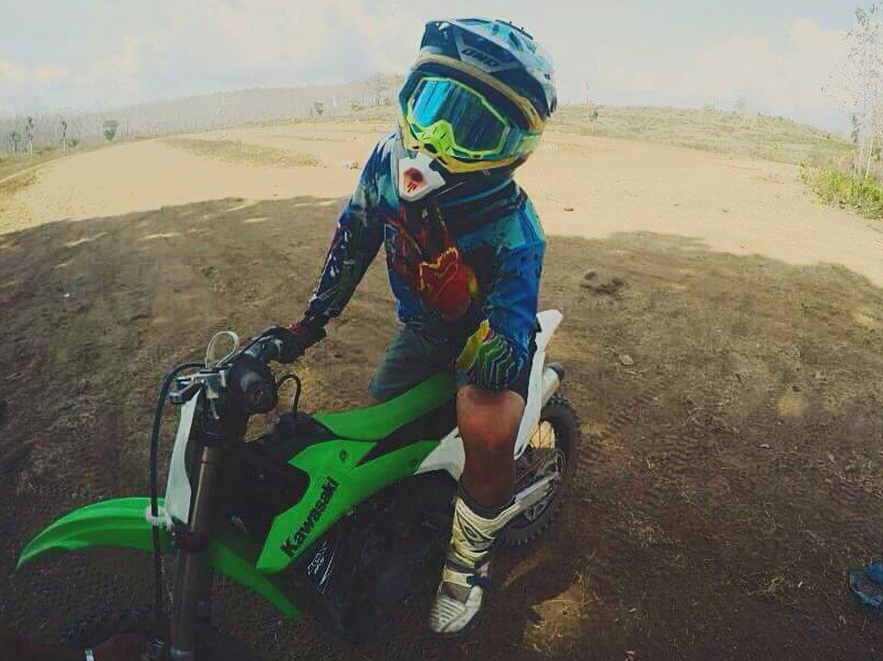 Are you ready to race?? Brap brap!! Sports Helmet Adventure Riding Sport Real People Outdoors Day Sand Motocross